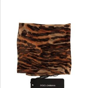 Dolce and Gabbana Tiger Square Silk Scarf